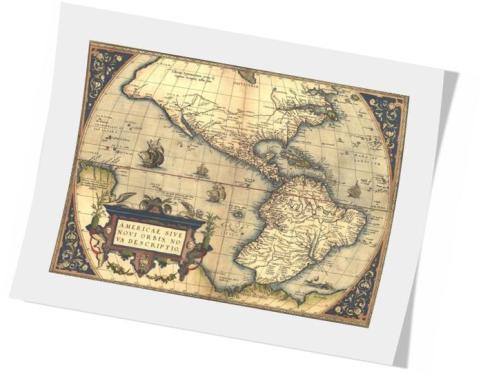 ORTELIUS. 1570.AméricaNorteYSur