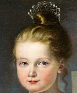 Cuadro de Jose Madrazo,Isabel tenia 8 meses.